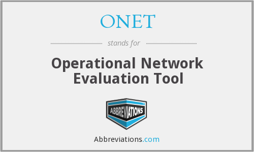 What does ONET stand for?