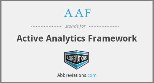 AAF - Active Analytics Framework