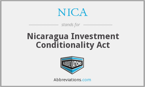 NICA - Nicaragua Investment Conditionality Act