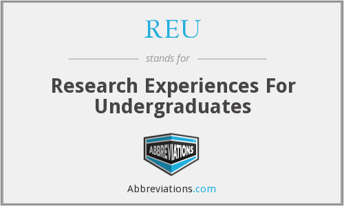 What does REU stand for?