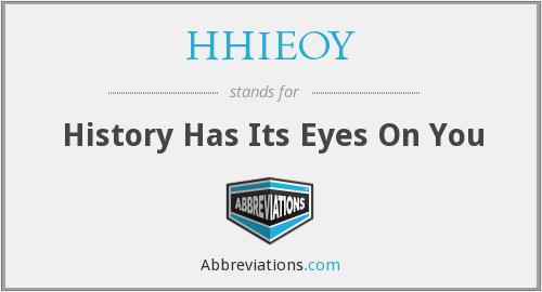 What does HHIEOY stand for?