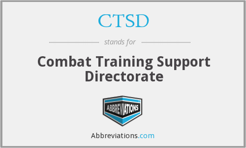 CTSD - Combat Training Support Directorate