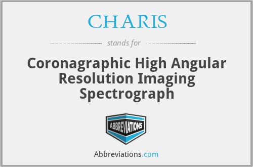 CHARIS - Coronagraphic High Angular Resolution Imaging Spectrograph