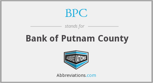 BPC - Bank of Putnam County