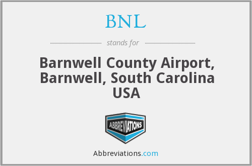 BNL - Barnwell County Airport, Barnwell, South Carolina USA