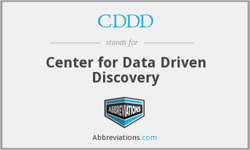 CDDD - Center for Data Driven Discovery