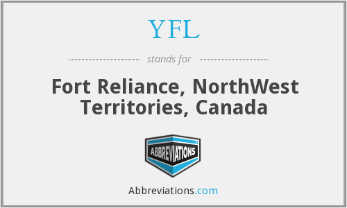 YFL - Fort Reliance, NorthWest Territories, Canada