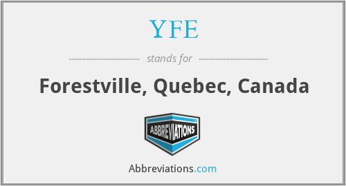 YFE - Forestville, Quebec, Canada