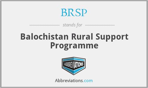 BRSP - Balochistan Rural Support Programme