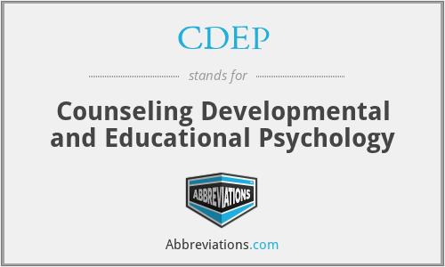 CDEP - Counseling Developmental and Educational Psychology