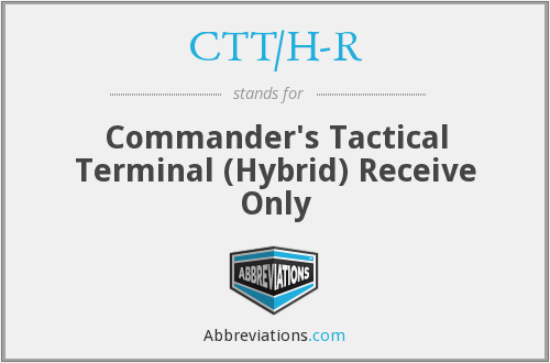 What does CTT/H-R stand for?
