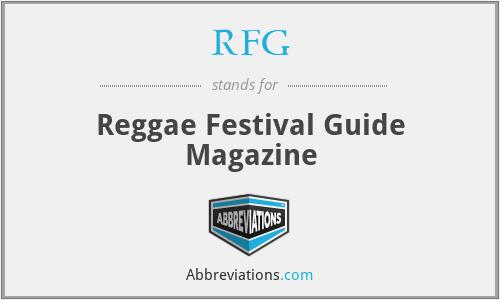 RFG - Reggae Festival Guide Magazine