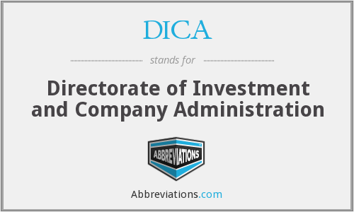 What does DICA stand for?