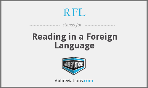 RFL - Reading in a Foreign Language