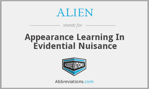 ALIEN - Appearance Learning In Evidential Nuisance