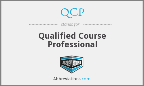 QCP - Qualified Course Professional