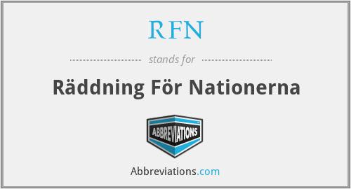 RFN - Räddning För Nationerna