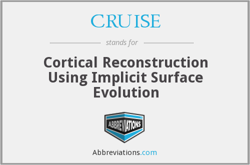 CRUISE - Cortical Reconstruction Using Implicit Surface Evolution