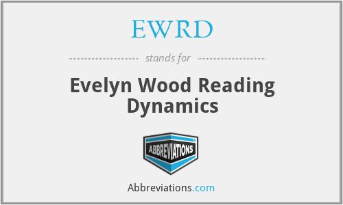 EWRD - Evelyn Wood Reading Dynamics