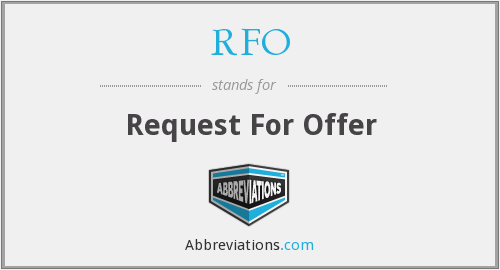 RFO - Request For Offer