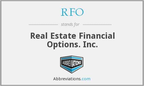 RFO - Real Estate Financial Options. Inc.