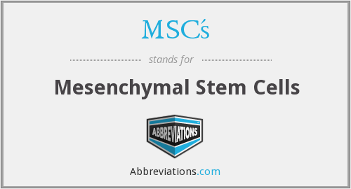 What does MSC'S stand for?