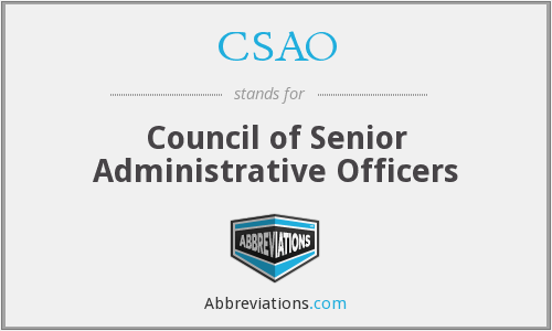 What does CSAO stand for?