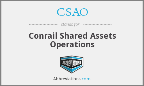 CSAO - Conrail Shared Assets Operations