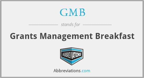 GMB - Grants Management Breakfast