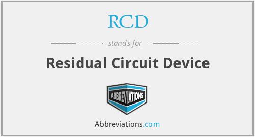 RCD - Residual Circuit Device
