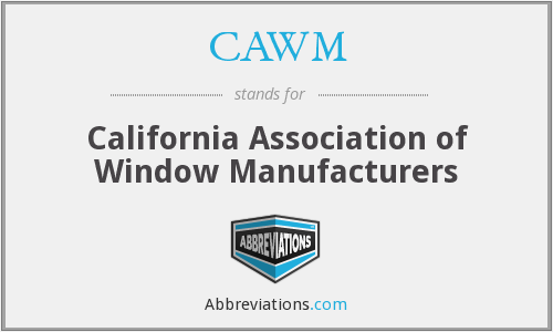 What does CAWM stand for?
