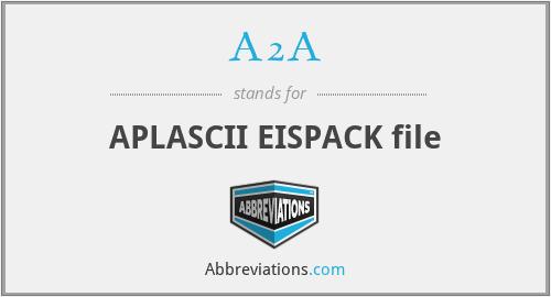 A2A - APLASCII EISPACK file
