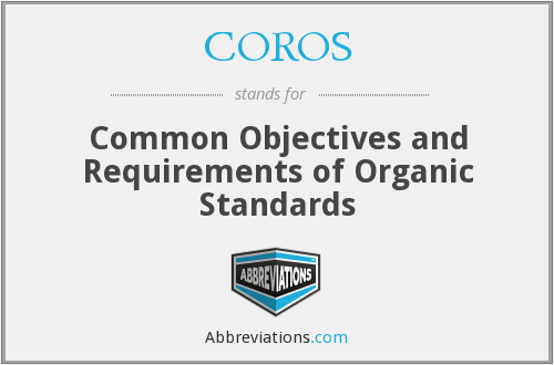 What does COROS stand for?