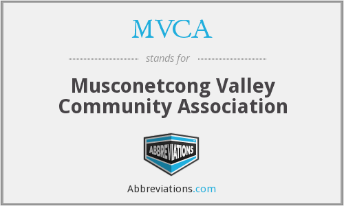 MVCA - Musconetcong Valley Community Association