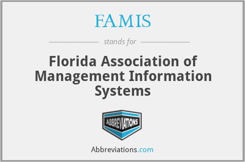 FAMIS - Florida Association of Management Information Systems