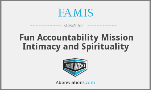 FAMIS - Fun Accountability Mission Intimacy and Spirituality