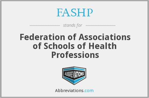 What does FASHP stand for?