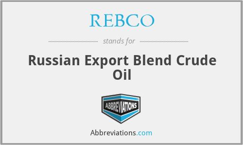 REBCO - Russian Export Blend Crude Oil
