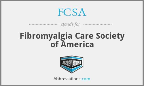 FCSA - Fibromyalgia Care Society of America