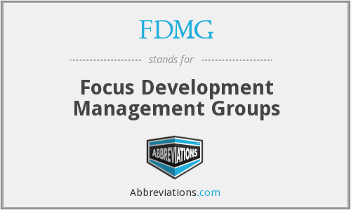 What does FDMG stand for?