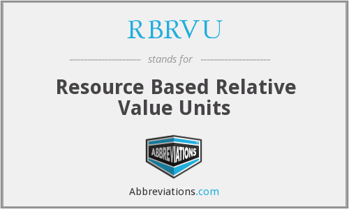 What does RBRVU stand for?
