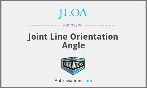 JLOA - Joint Line Orientation Angle