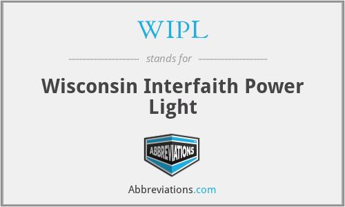 WIPL - Wisconsin Interfaith Power Light