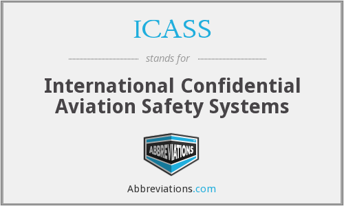 ICASS - International Confidential Aviation Safety Systems