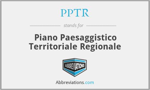 PPTR - Piano Paesaggistico Territoriale Regionale