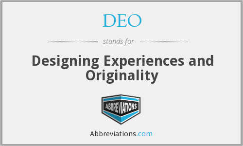 DEO - Designing Experiences and Originality