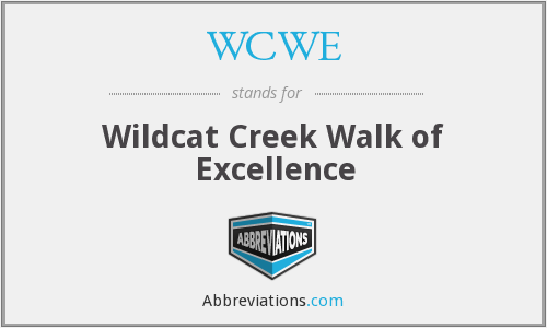 WCWE - Wildcat Creek Walk of Excellence