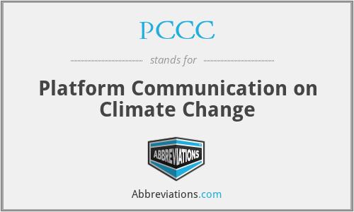 PCCC - Platform Communication on Climate Change