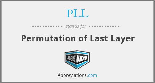 PLL - Permutation of Last Layer