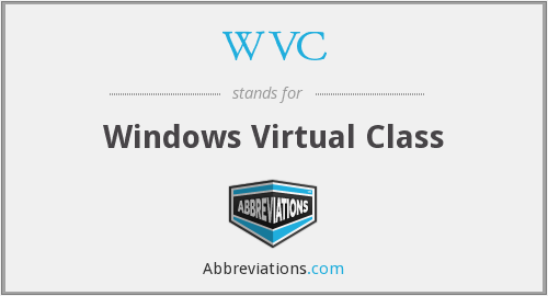 WVC - Windows Virtual Class